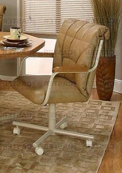 Casual Rolling Caster Dining Arm Chair with Swivel Tilt
