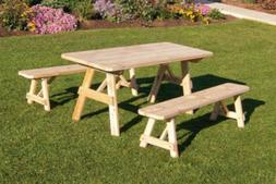 Cedar 6 Foot Traditional Picnic TABLE ONLY *Unfinished * Ami