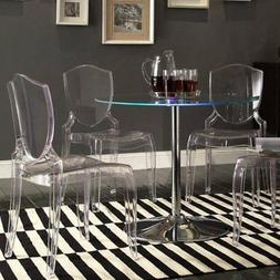 Chelsea Lane Tron LED Round Dining Table
