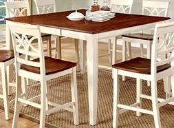 Furniture of America Cherrine Country Style Pub Dining Table