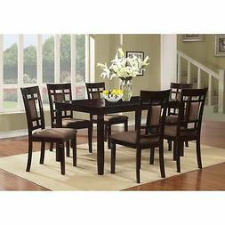 The Room Style 7 piece Cherry Finish Solid Wood Dining Table