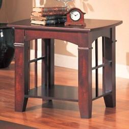 Cherry Finish End Table by Coaster Furniture
