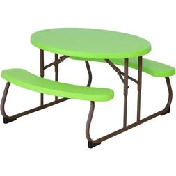 Lifetime Children's Oval Picnic Table - Lime Green