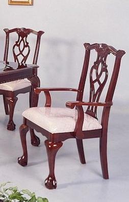 Chippendale Arm Chair 40′′H  by Crown Mark