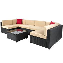 Best Choice Products 7-Piece Modular Outdoor Patio Rattan Wi