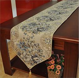 Moldiy Classic European Style Embroidery Dining Table Runner