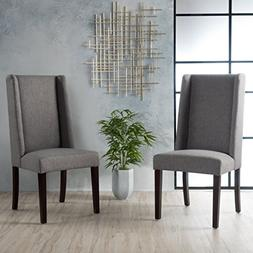 Cline Oxford Grey Fabric Dining Chair