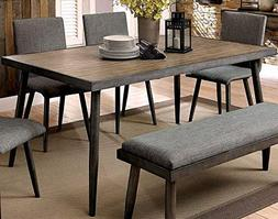 William's Home Furnishing CM3360T Vilhelm I Dining Table, Gr