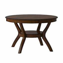 Coaster 102171 Nelms Round Dining Table With Storage Shelf I