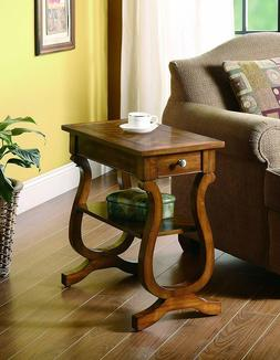 Coaster Home Furnishings Rectangular Chairside Table with Dr