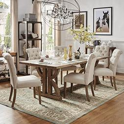 Coffee Springs Dining Set, Reclaimed Wood Rectangular Table,