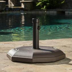 Best Selling Home 66 lbs. Concrete Umbrella Holder Brown