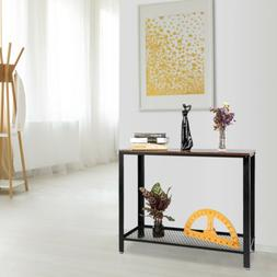 Console Table for Entryway Entry Accent Table w/ Shelf SofaS