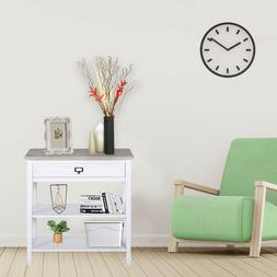 Console Table w/ Drawer and shelf Accent Sofa Table for Entr