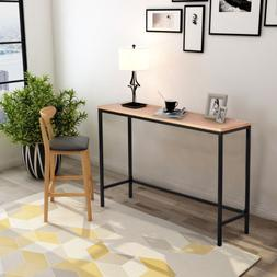 Contemporary Industrial Console Table for Entryway and Livin