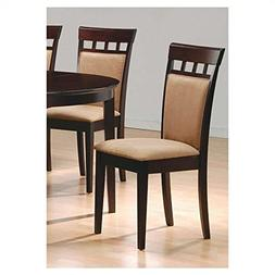 Set of 2 Contemporary Mocha Color Seat & Back, Cappuccino Fi