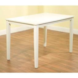 Contemporary Rectangular Dining Table, in White Finish Made