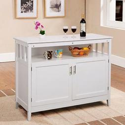 Costway Modern Kitchen Storage Cabinet Buffet Server Table S
