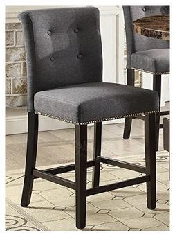 "Set of 4 Counter Height Dining Chairs 24""H Seat in Blue Grey"