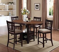 Coaster Home Furnishings Lavon 5-Piece Storage Counter Table