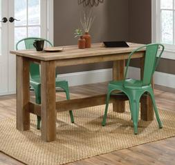 Counter Height Dining Table Rustic Wood Country Farmhouse Ki
