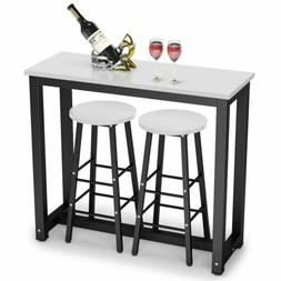 Counter Height Dining Table Set with 2 Bar Stools for Kitche