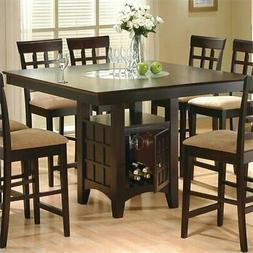 Bowery Hill Counter Height Square Dining Table with Storage
