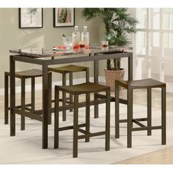 5 Piece Counter Height Kitchen Furniture Casual Dining Set i