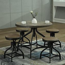 Bestmart Inc 5 PCS Counter Height Table Stool Kitchen Breakf