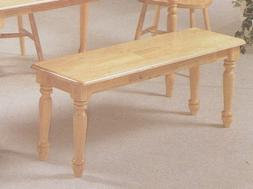 Country Style Dining Chair House Bench w/ Decorative Turned