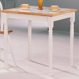 Coaster Home Furnishings Country Dining Table, Natural and W