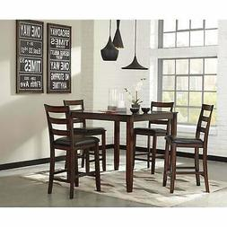 Ashley Furniture Coviar Burnished Brown 5 Pc Counter Height