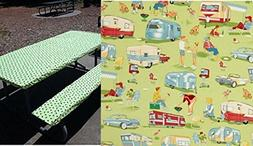 Custom Stay Put Fitted Tablecloth Table Cover for a 6 Ft Pic
