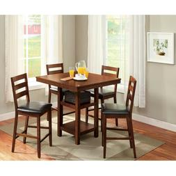 5-Piece Dalton Park Counter Height Dining Set, Mocha