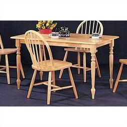 Damen Rectangle Leg Dining Table in Warm Natural Wood Finish