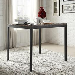INSPIRE Q 36 inch Darcy Faux Marble Black Metal Counter Heig