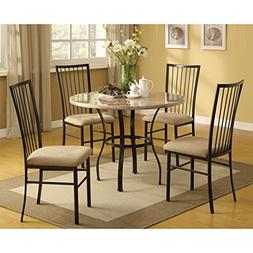 Darell Faux Marble Top 5-piece Dining Set