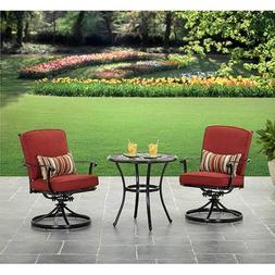 Better Homes and Gardens Dawn Hill 3 piece Cafe Set Aluminum