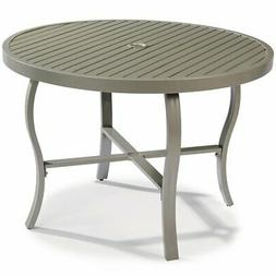 "Home Styles Daytona 43"" Round Patio Dining Table in Charcoal"