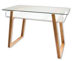 bonVIVO Writing Desk Massimo, Contemporary Desk Combining Gl