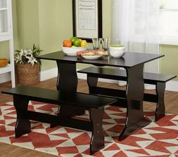 Dinette Set Country Breakfast Nook Wooden Dining Sets 3 Piec