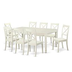 9 Pc Dinette Table Set For 8- Dining Room Table And 8 Dining