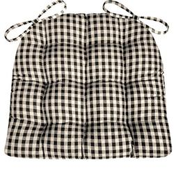 Barnett Products Dining Chair Pad with Ties - Black & White