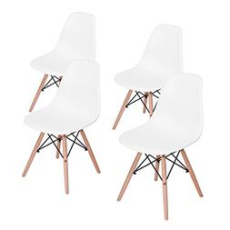 HOMY CASA Mid Century Modern Style Eames Seat Height Natural