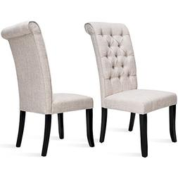 Harper Bright Design Dining Chair Tufted Armless Chair Uphol