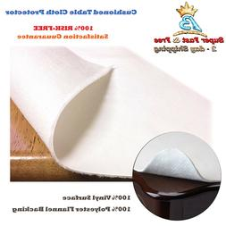 Dining Cushioned Table Pad Protector With Flannel Backing De