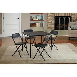 Dining Folding 5 Pc Card Table Set 4 Chairs Easy-Clean Vinyl