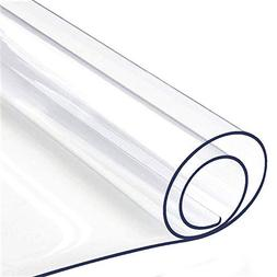 "32 x 60 "" Clear Dining Table Top Protector Wipeable PVC Viny"