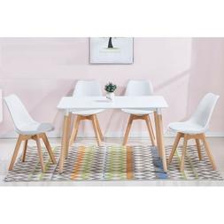 Dining Room Furniture Table & 4pc White Side Chairs Beach Wo