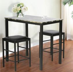Dining Room Kitchen Table Set Marble Rectangular Breakfast W